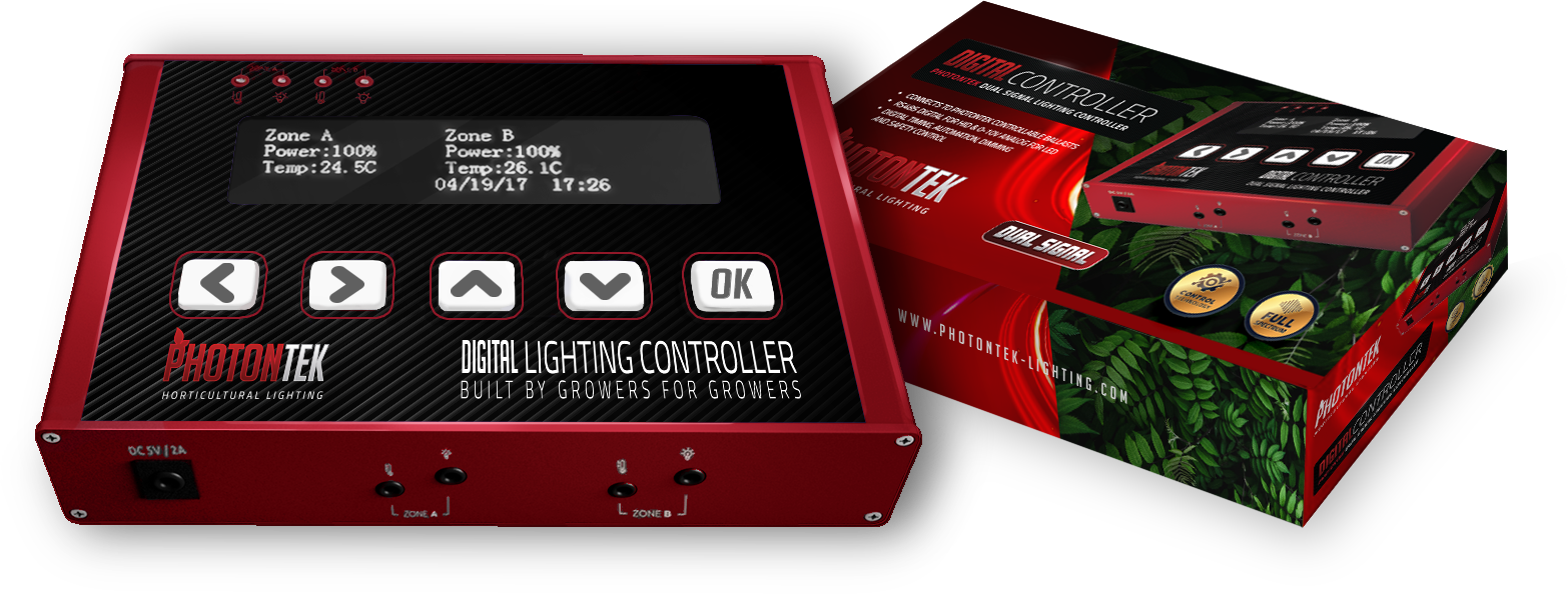 PHOTONTEK Digital Controller is a dual signal digital lighting controller that offers precise external control of your PHOTONTEK lighting fixtures, drivers and ballasts.